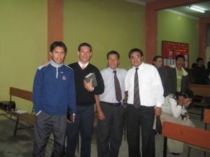 Wilfredo, Alaín, Luis Alberto y Ps. Octavio