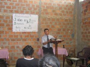 Predicando en San Lorenzo
