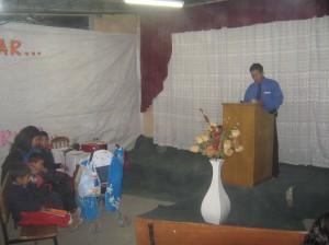 predicando en Congata