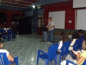 David cediéndome para predicar